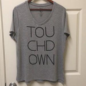 Touchdown v neck T-shirt